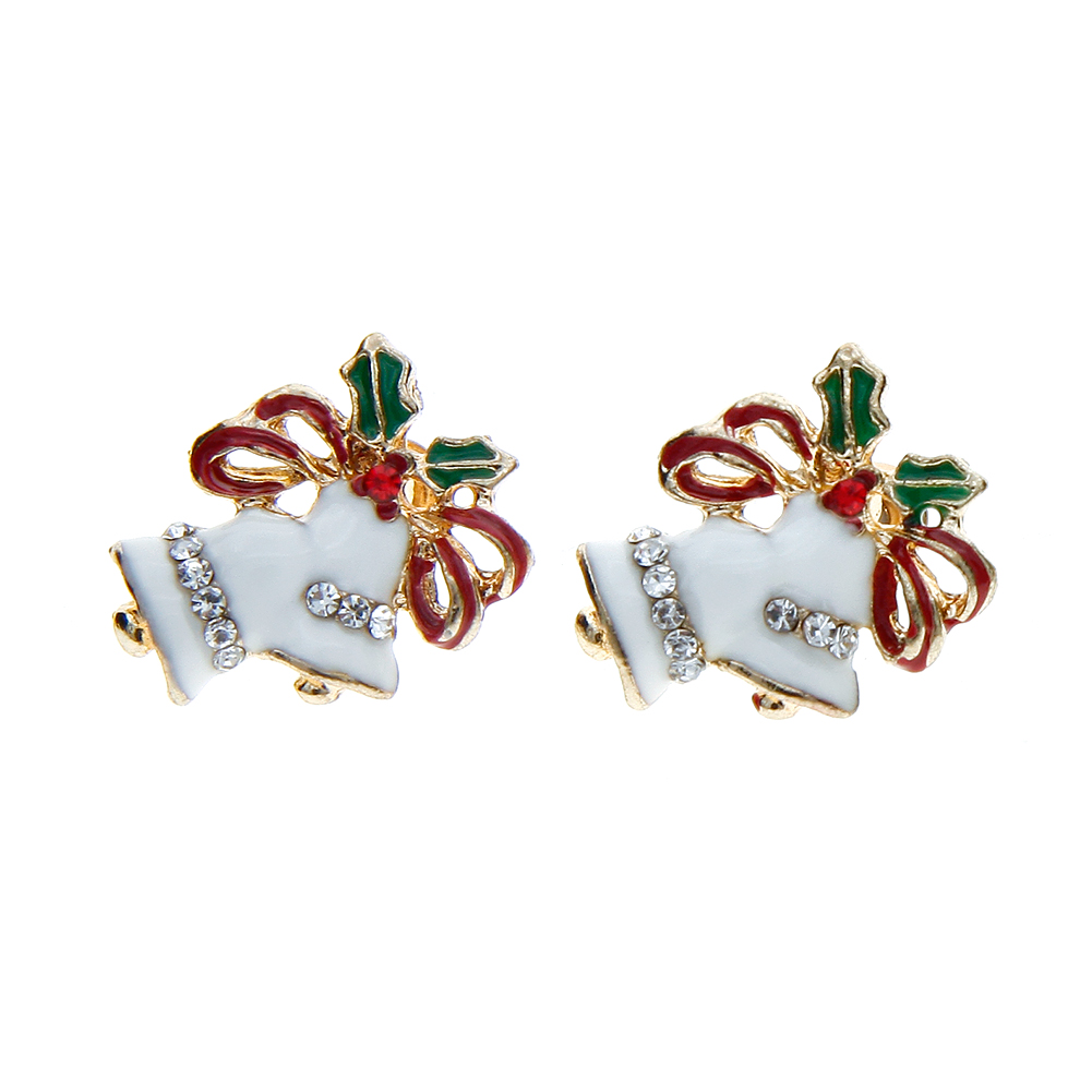 New Fashion Cute Women Snowflake Candy Snowman Ear Stud Christmas Earrings Gifts Jewelry Hot