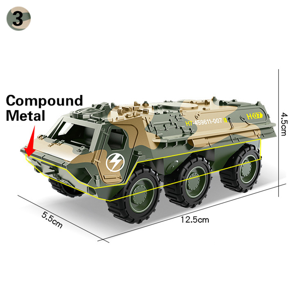 1:64 Military Army Vehicles Tanks Pull Back Action Tanks Toy