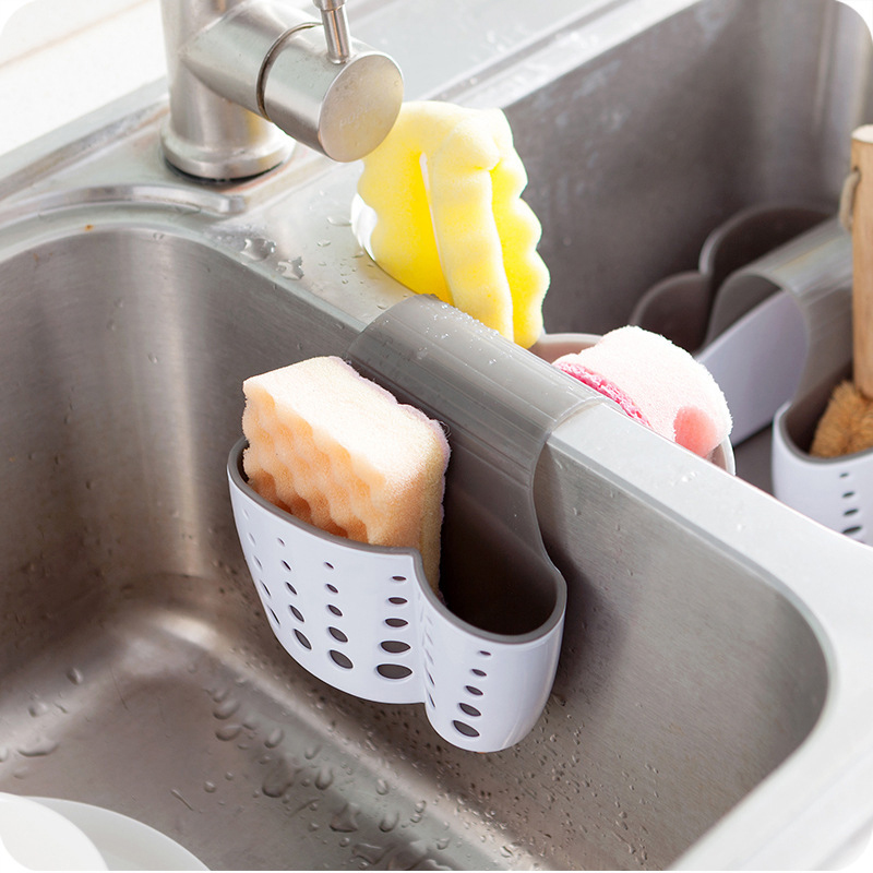 Portable Home Kitchen Hanging Drain Bag Basket Bath Storage Tool Double Sink Hanging