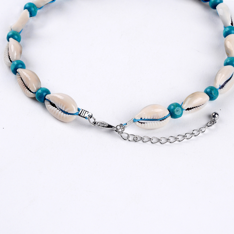 Bohemia Velvet Rope Choker Natural Shell Beads Pendant Chain Necklace Jewelry