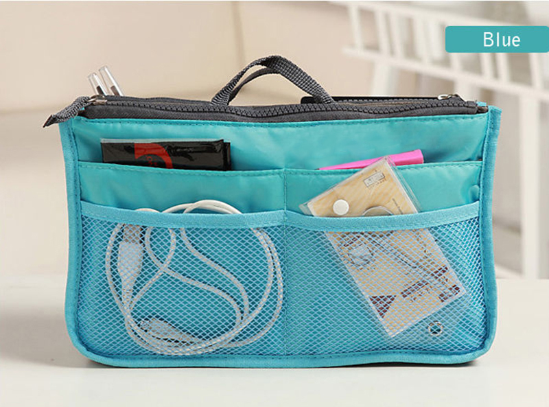 1PC stylish multifunctional cosmetic nylon cotton material Makeup storage bag
