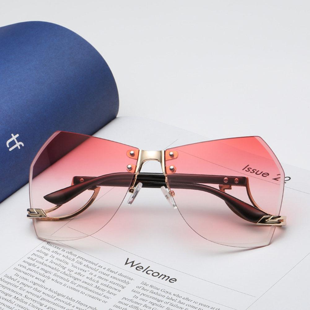Women's Glasses Retro Fashion Oversized Sunglasses Luxury Daimond Ocean Colors Gradient Sun Glasses