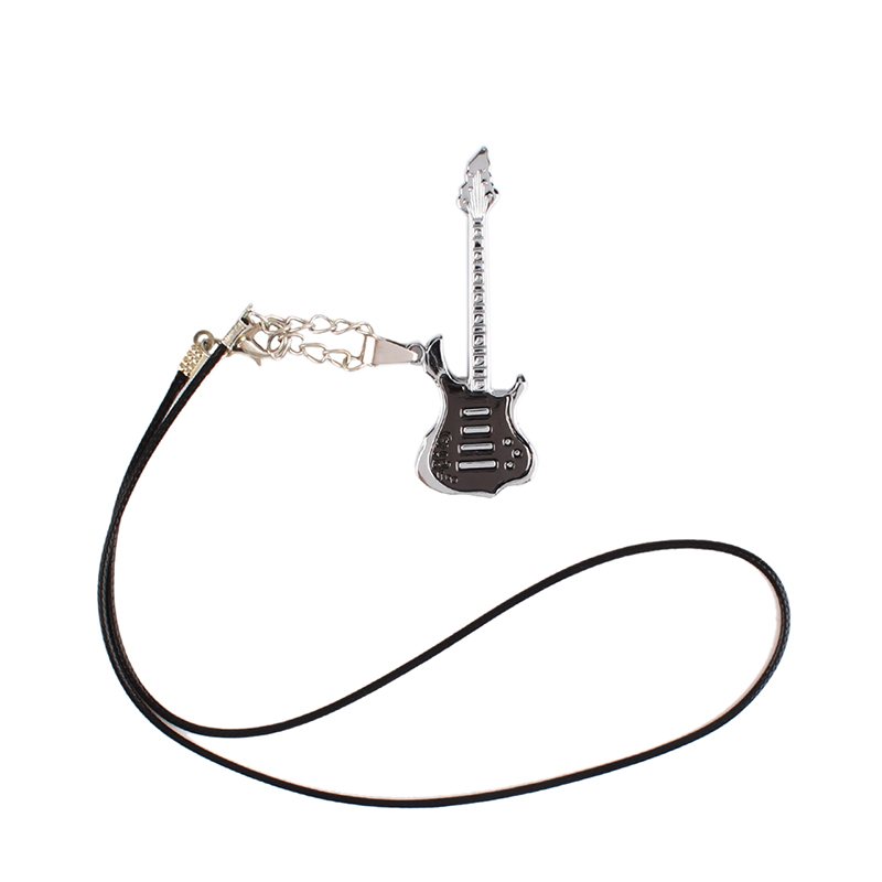 New Fashion Korean Style Men Women Mini Guitar Necklace Metal Pendant Gift