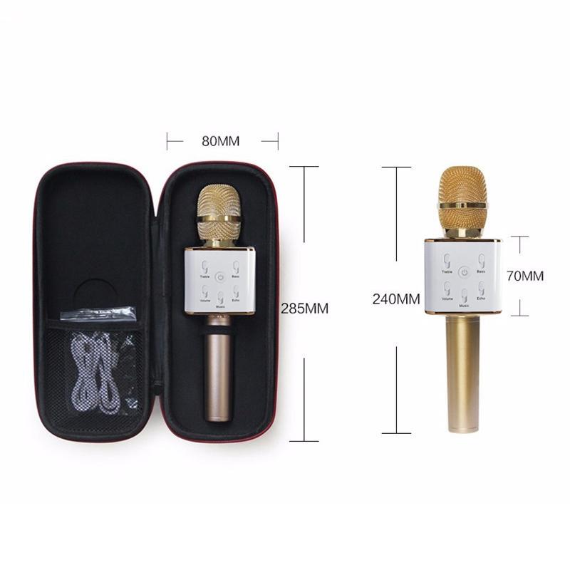 Wireless Handheld Microphone Portable KTV Karaoke Stereo Microphone Player Bluetooth Speaker