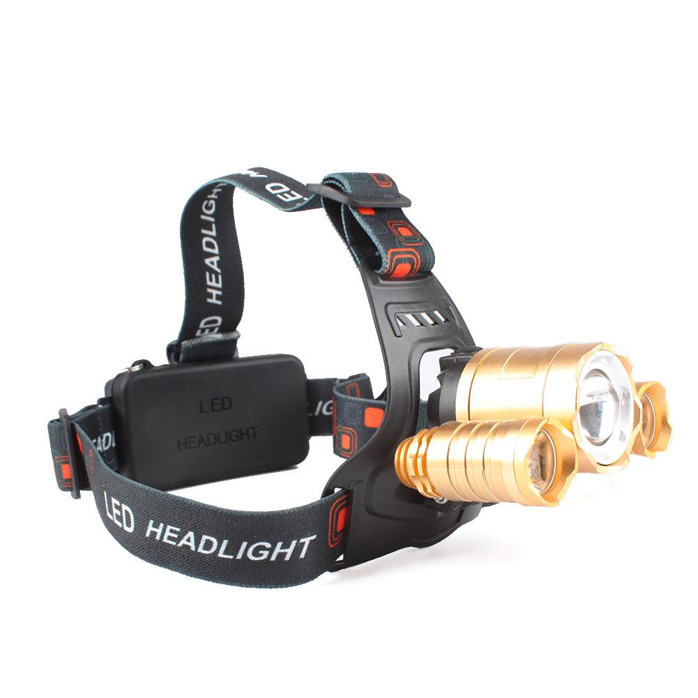 Camping Hunting Hiking 8000Lm 3x Cree XM-L T6 LED Headlamp Headlight Head Torch