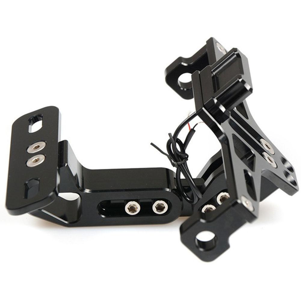 Motorcycle Adjustable License Number Plate Holder Bracket And LED Light