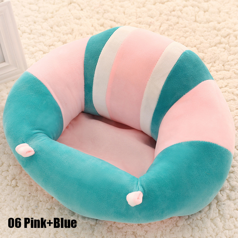 Colorful Pattern Lovely Baby Support Seat Soft Car Pillow Cushion Sofa Plush Toys