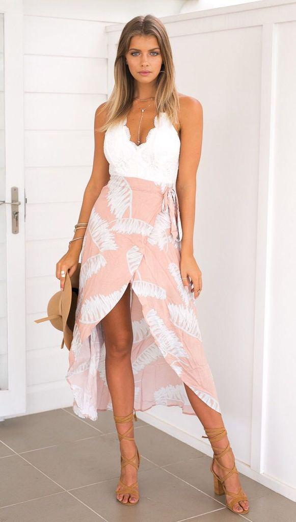 2018 New Summer Maxi Dress Women Lace Dress Strap V Neck Sexy Backless Sleeveless Long Dress Beach Party Vestidos U741