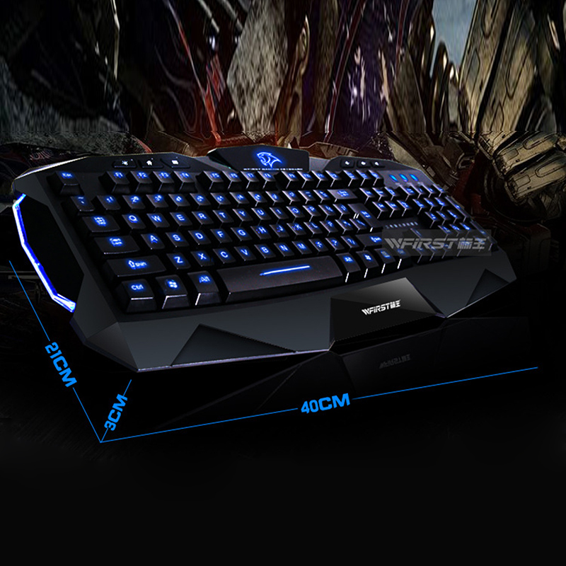 Blue Red Purple LED Backlit Illuminated USB Wired Gaming Computer PC Keyboard
