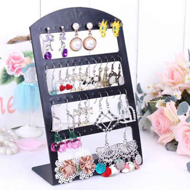48 Pieces 24 Pair Plastic Earring Body Jewelry Earrings Display Stand Holder #05