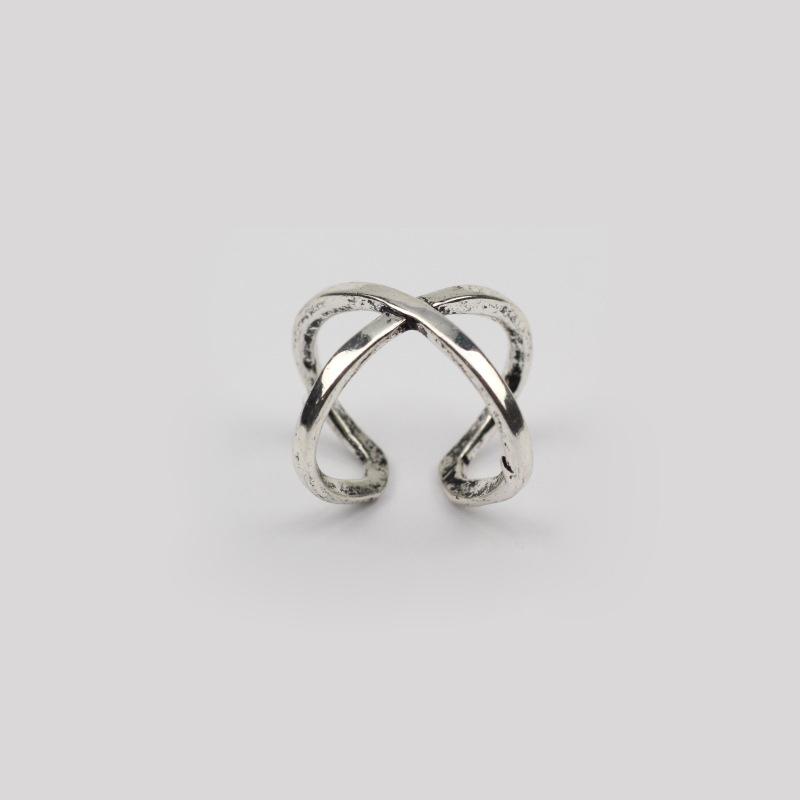 New Hot 6pcs/Set Bohemian Vintage Sliver Knuckle Natural Stone Open Midi Ring
