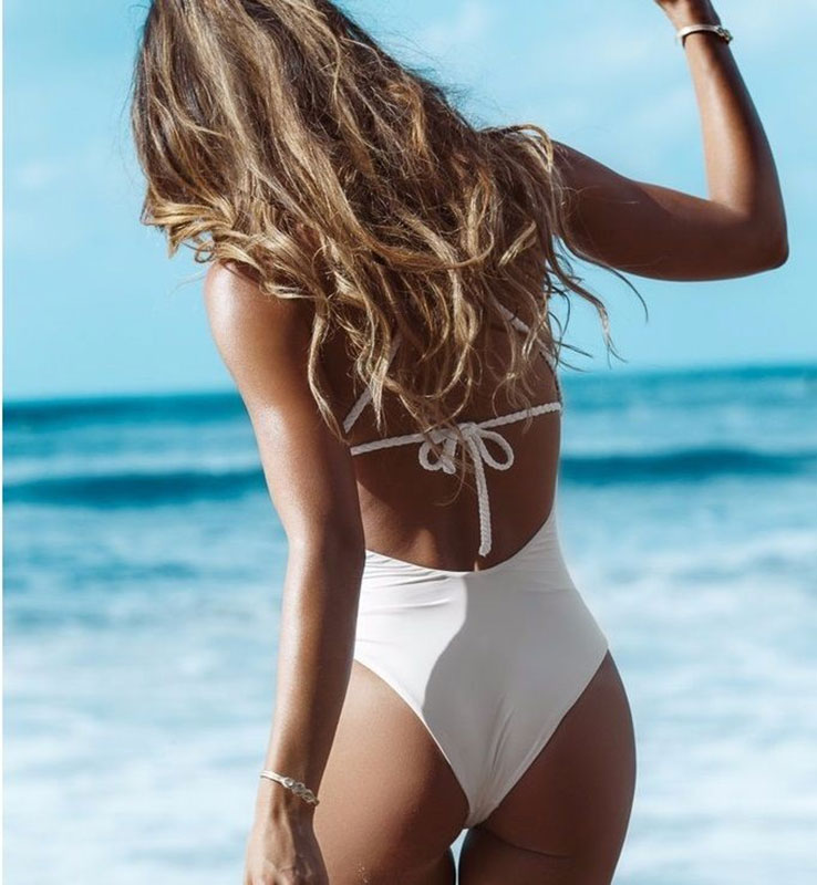 Women Sexy Bandage Hollow Bikini Set Push up Swimsuit Padded Beach Swimwear
