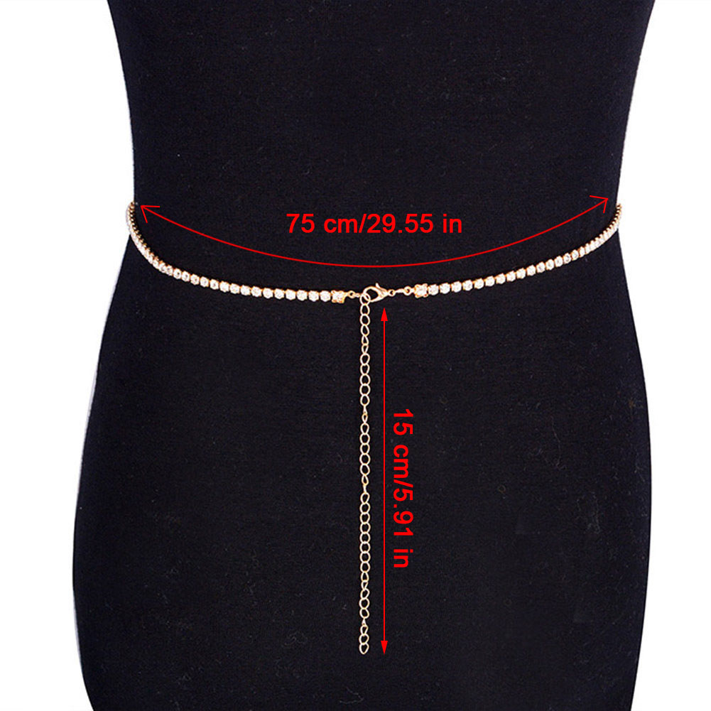 2017 Summer Sexy Crystal Rhinestone Tassel Belly Chain Body Waist Long Chain Club Party Jewelry