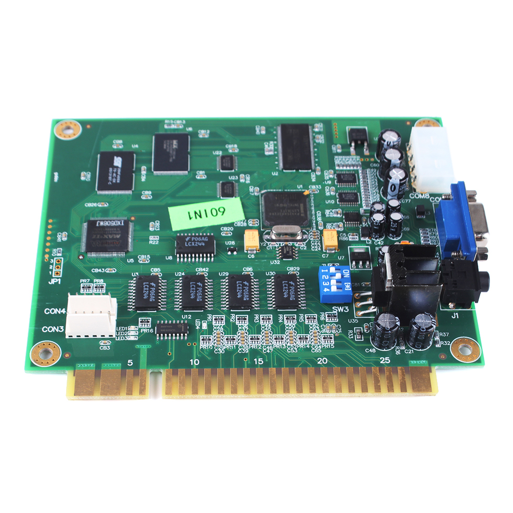 60 in 1 Classic Game Vertical PCB Board CGA/VGA Output for