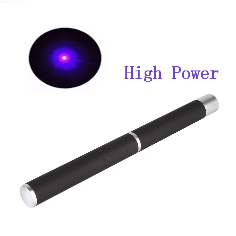 Powerful 5mw 405nm P1 Military Visible Light Beam Purple Laser Pointer Pen