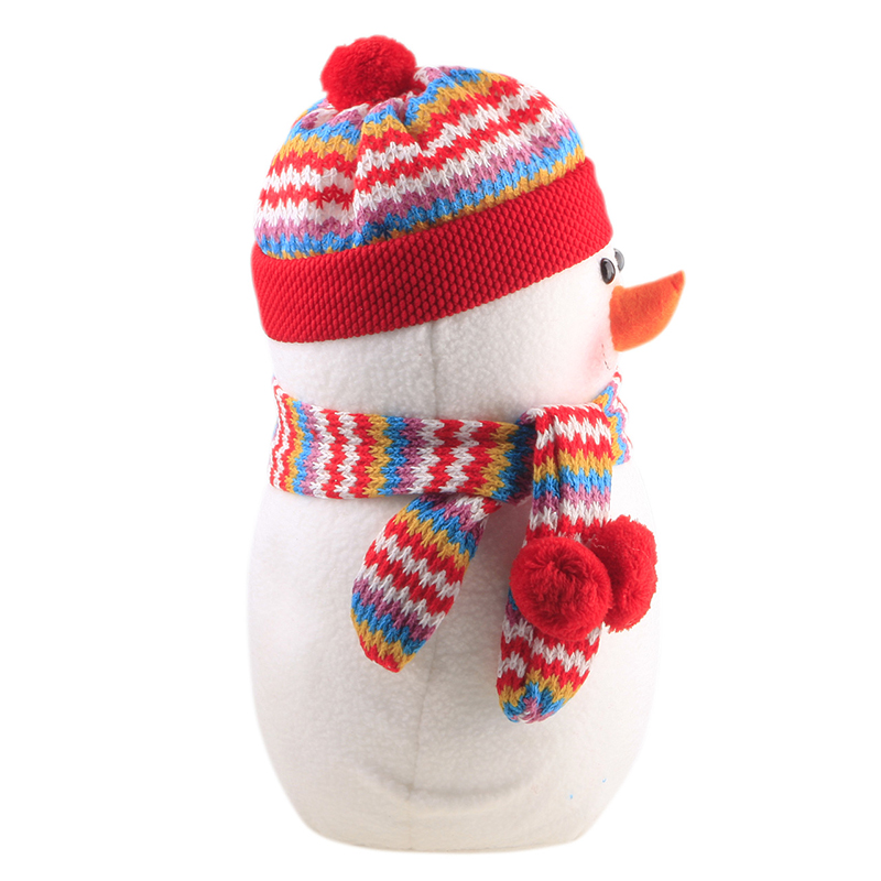 L Size Happy Christmas Doll Decoration Santa Snowman Ornament Toy Gift