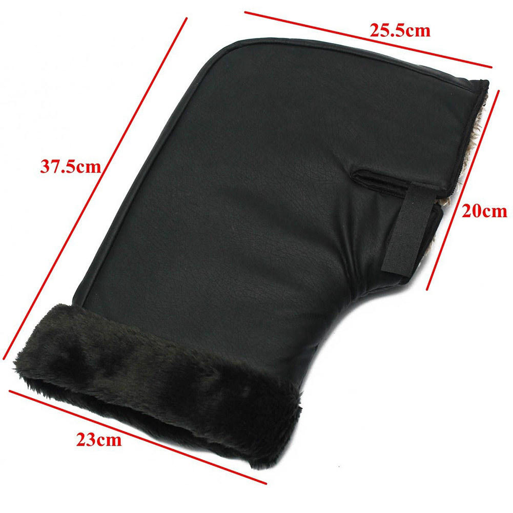 1 Pair Black Motorcycle Grip HandleBar Muff Winter Warmer Thermal Cover Glove