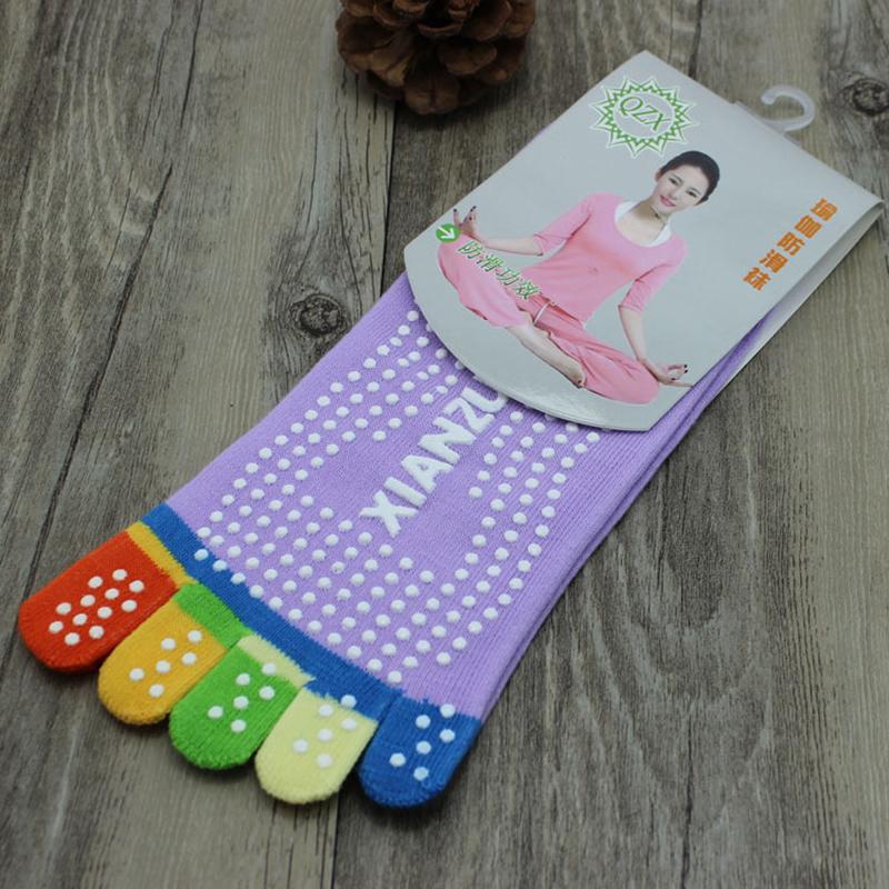 1 Pair High Quality Socks 5 Toes Cotton Socks Exercise Sports Pilates Massage Sock Yoga Socks