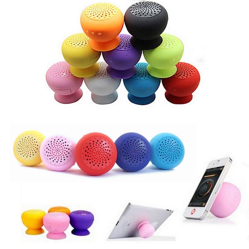 Mushroom Wireless Bluetooth Waterproof Silicone Sucker Hands Free Speaker