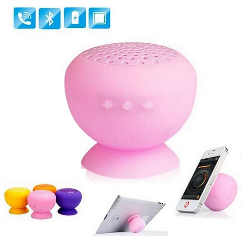 Mushroom Wireless Bluetooth Waterproof Silicone Sucker Hands Free Speaker