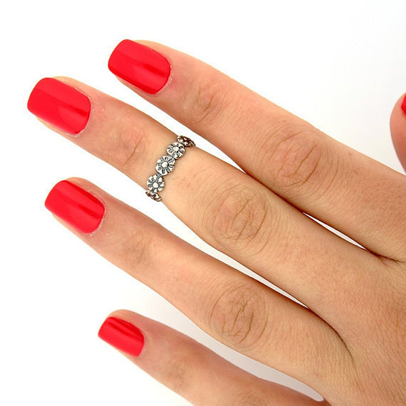 12Pcs Set Retro Fashion Women Jewellery Celebrity Simple Adjustable Toe Ring Midi Ring