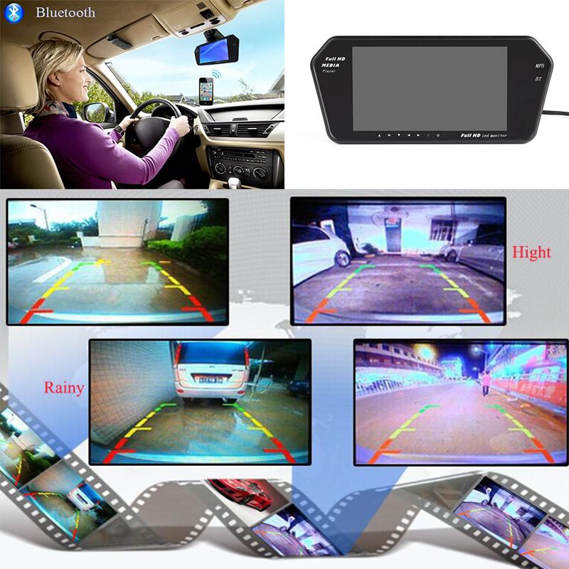 7 Inch Bluetooth MP5 800*480 Car Monitor + Night vision Waterproof HD Camera
