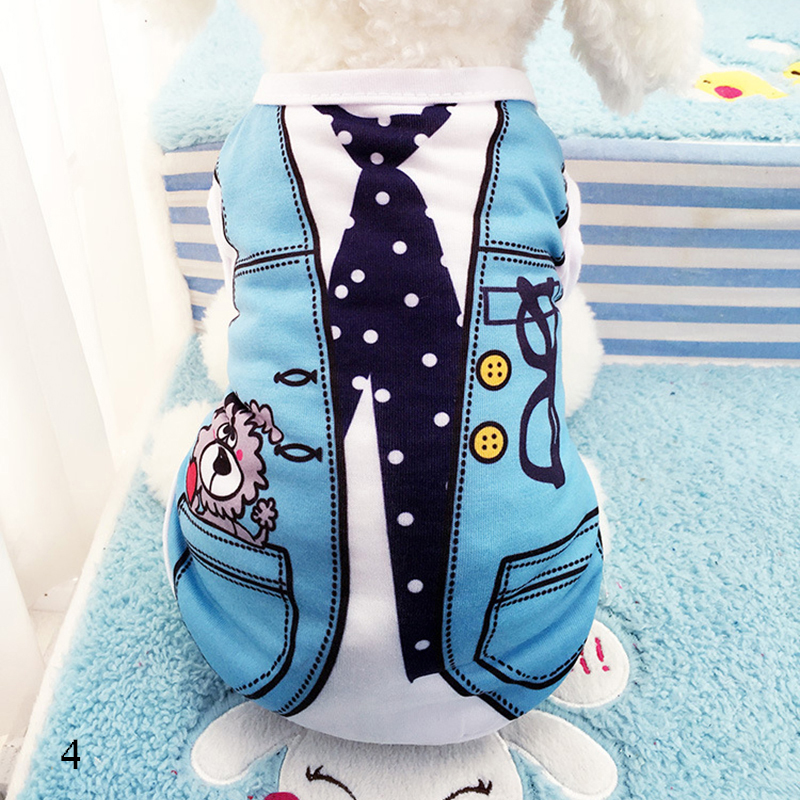 Cute Pet Dog Vest Summer Clothes Small Dogs Chihuahua T-shirt Soft Cotton Shirt S Size