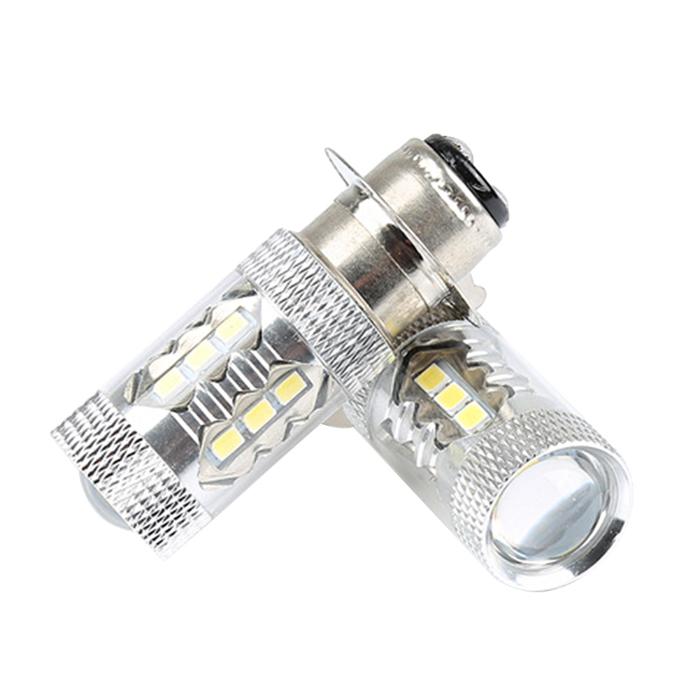 NEW 2pcs H6 80W P15D Auto Car Motorcycle Super HID White LED Headlights Bulbs