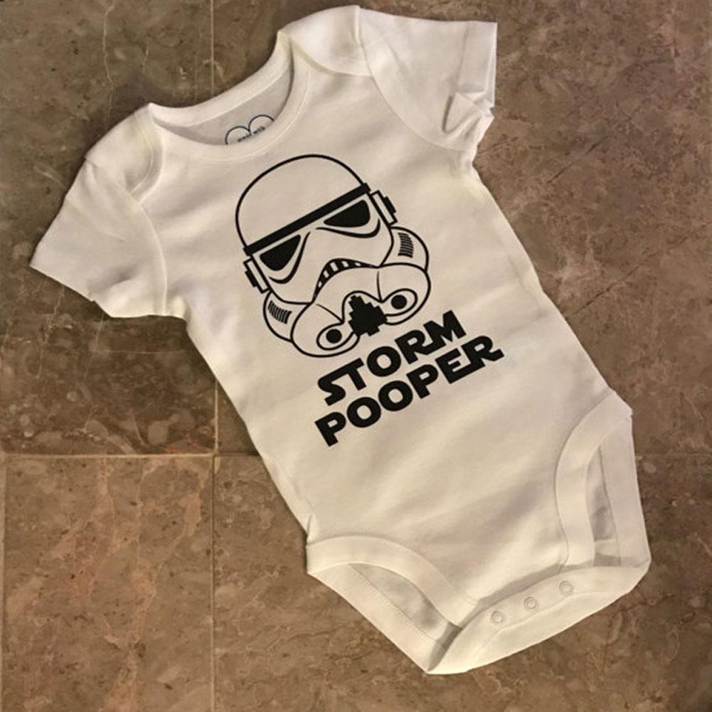 Infant Baby Boy Girl Cartoon letter Romper Bodysuits Boys Playsuits Children Clothing