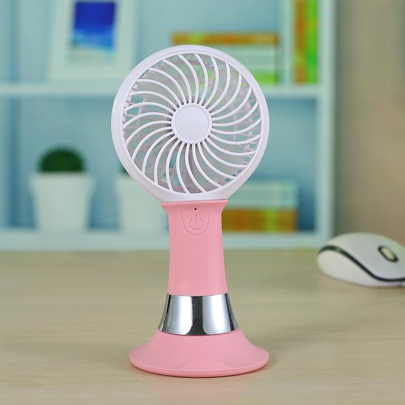 USB Fan with Mobile Phone holder Battery Powered Desktop Mini Cooling Fan with Bracket