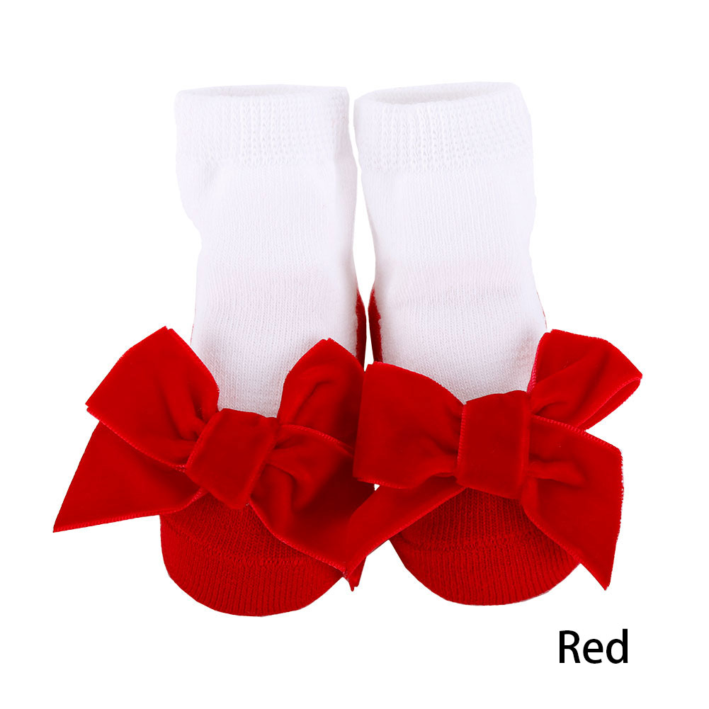 Baby Socks Infant Socks for Girls Newborns Suede Big Bowknot Socks for Princess Holiday Birthday Gifts for Baby Girls Fashion 0-24 Months