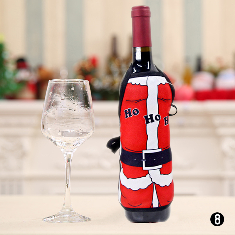 Christmas Apron Bottle Cover Christmas Home Decoration Wine Bottle Xmas Decor