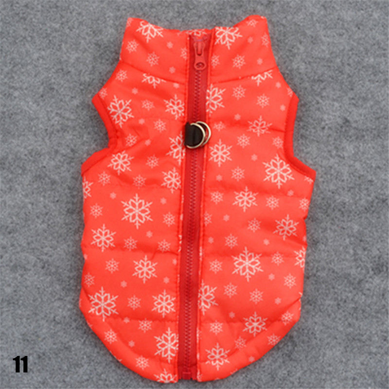 Pet Puppy Warm Dog Clothes Casual Dog Coat Jacket Padded Small Cat Vest Clothing XS Size