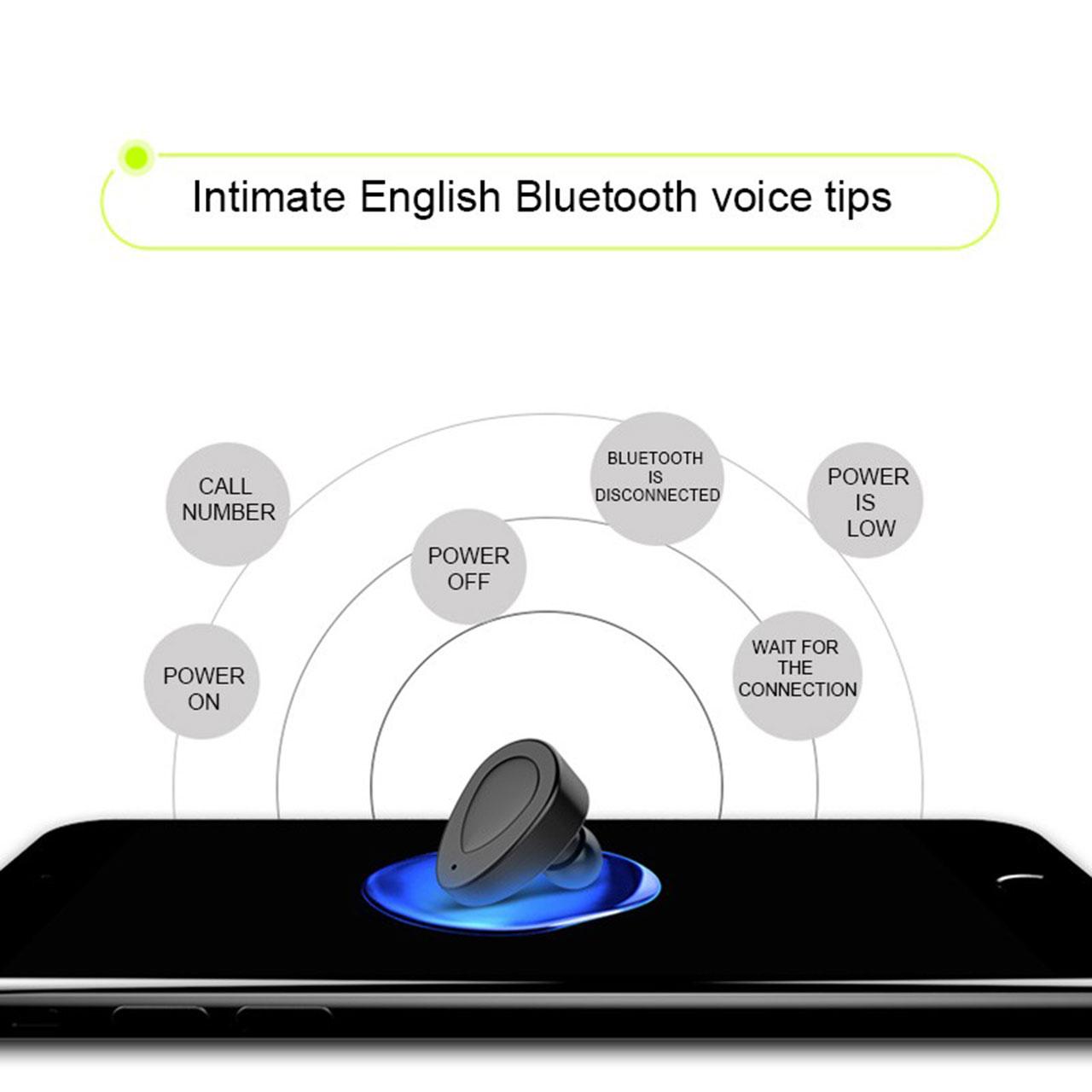 Bluetooth 4.1 Mini In-Ear Wireless Sports Earbuds Headset Stereo Earphone