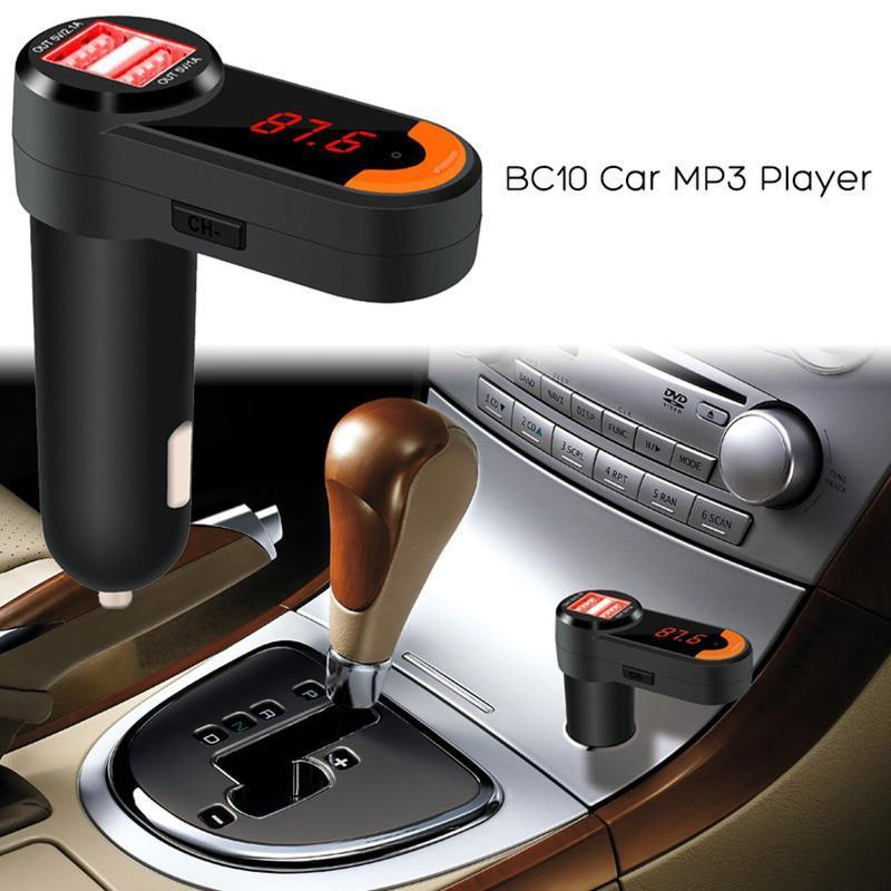 BC10 3 in 1 Dual USB Bluetooth LED Car Kit Car Charger FM Transmitter MP3 Player with Mic Handsfree for iPhone Pad