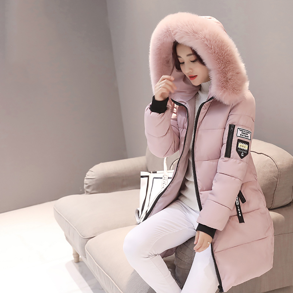 2017 New Woman's Fashion Warm Winter Hoody Down Jacket Cotton Coat
