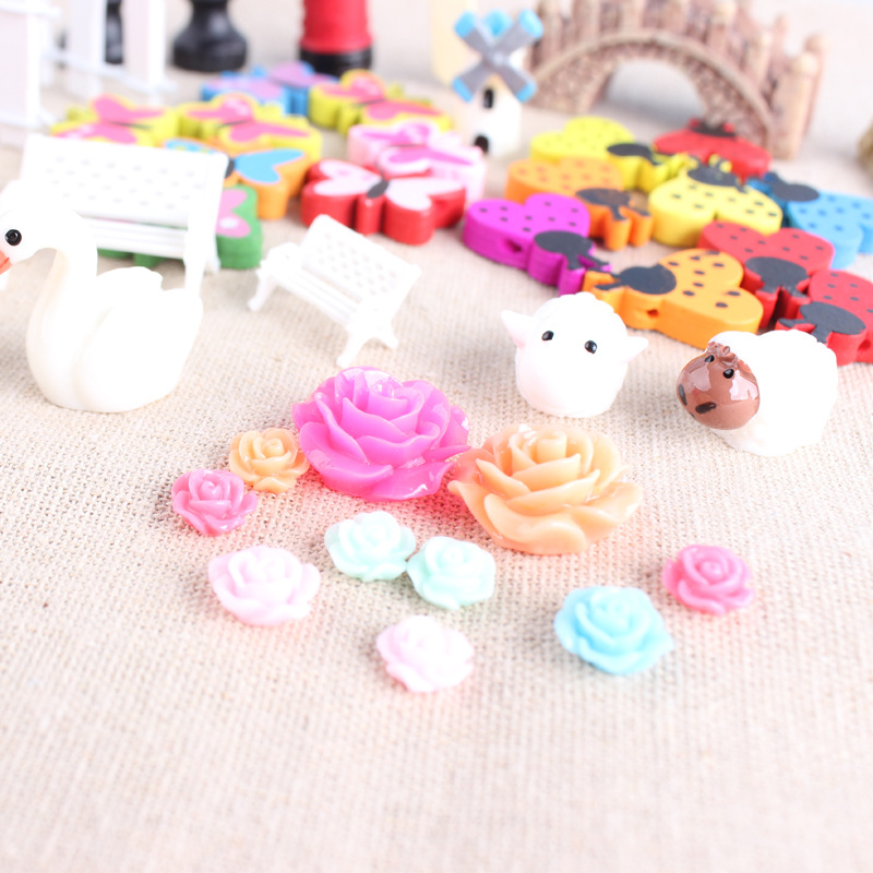 58pcs Miniature Ornaments Kit Set DIY Fairy Garden Dollhouse Decoration