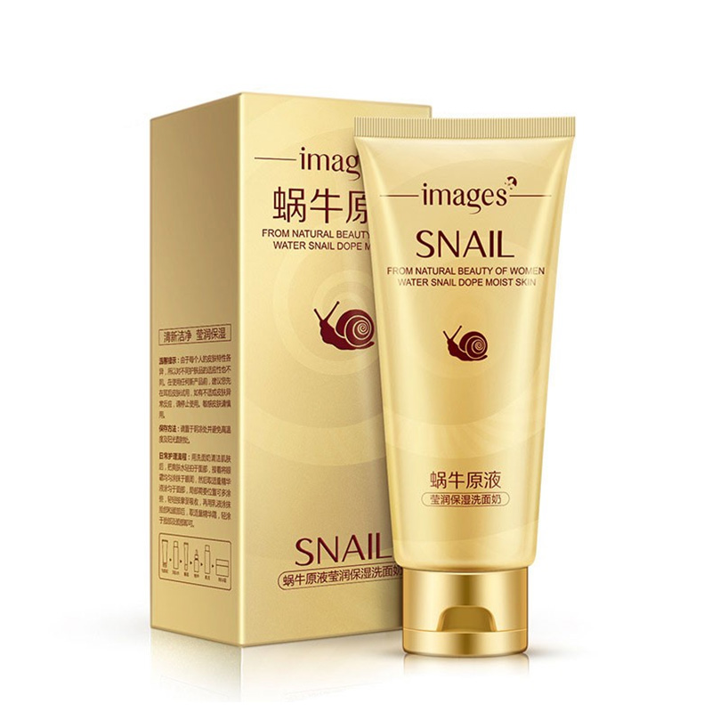 Acne snail concentrate Jade-like stone embellish wet cleanser Contractive pore Filling water Bubble cleansing 75ML