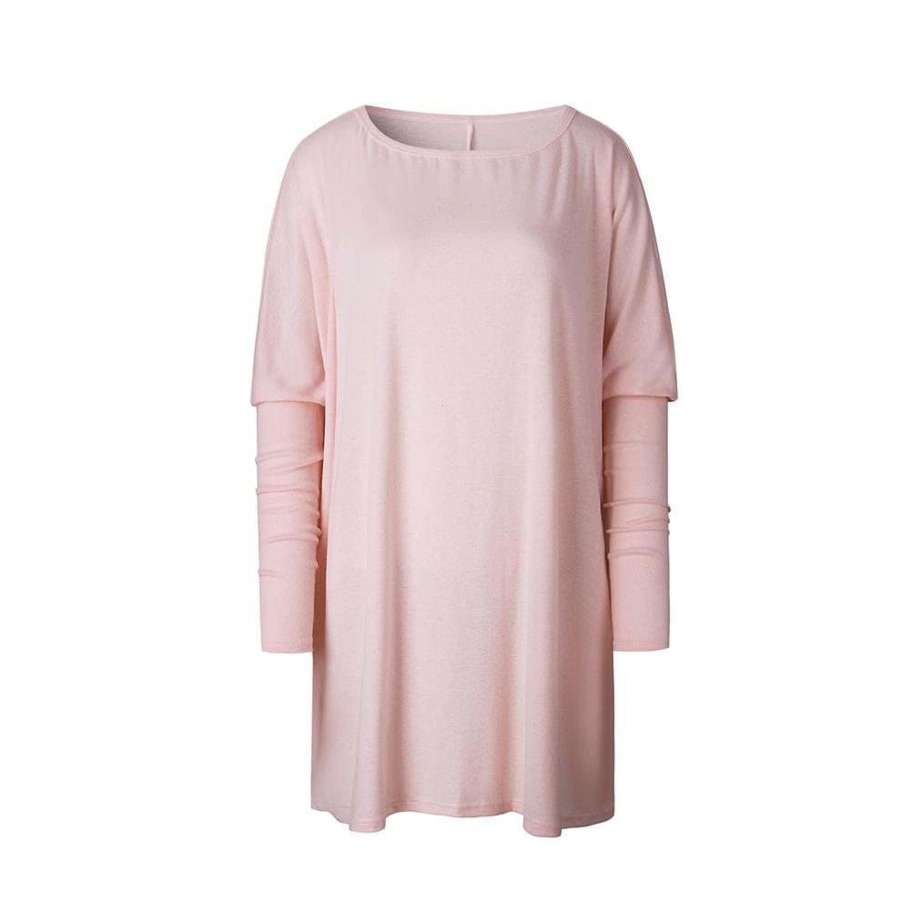 Hot Fashion Womens Summer Long Sleeve Tops Casual Blouse Loose Cotton T Shirt