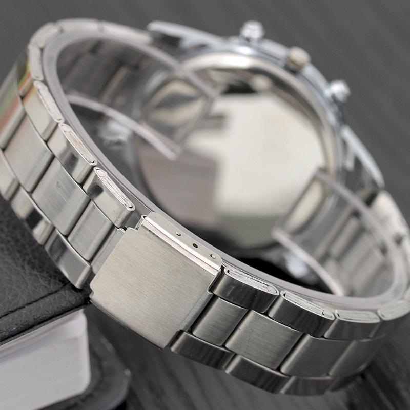 Men Fashion Casual Quartz Steel Strip Watch Automatic Mechanical Business Wristwatches