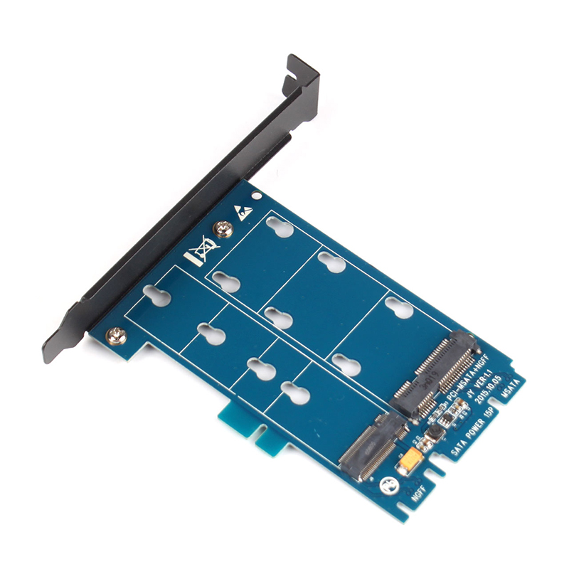 M.2 NGFF To SATA And MSATA TO SATA3 Adapter Card Dual Interface Two With Conversion Card SSD Adapter Card