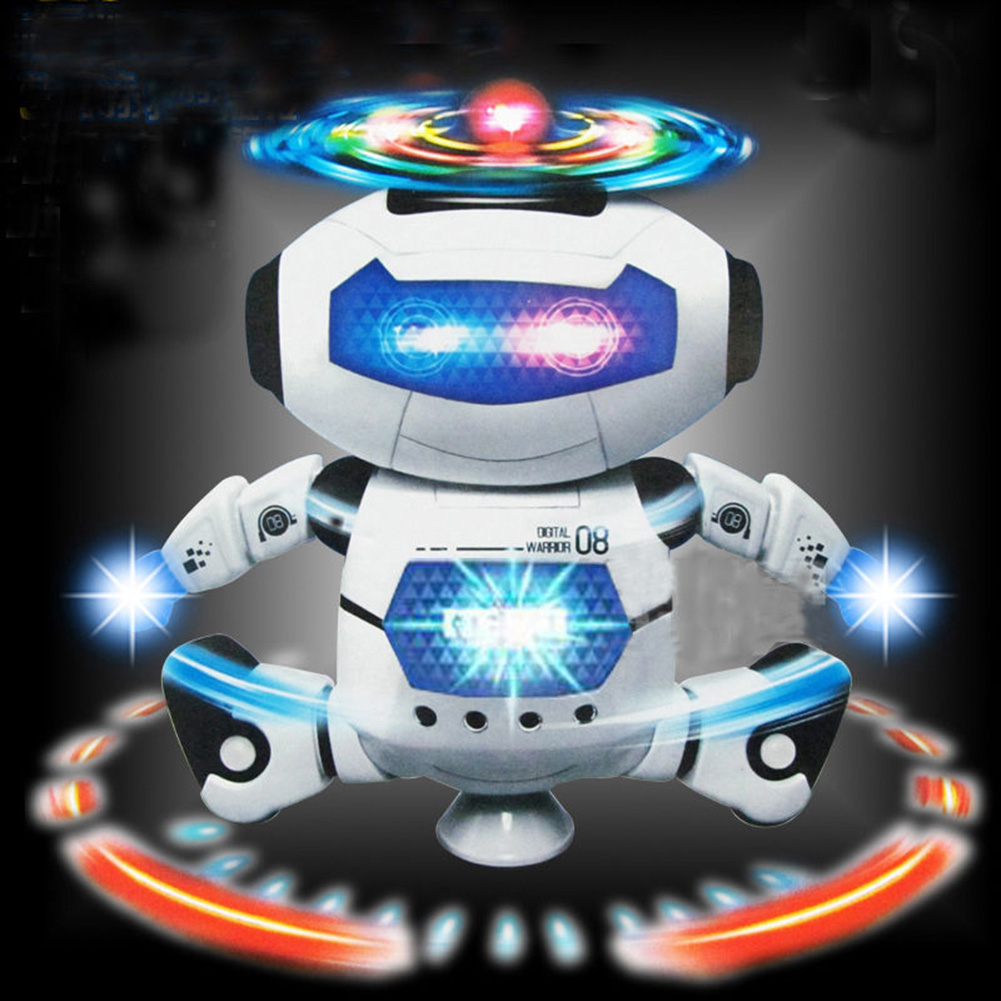 360° Rotation Electric Robot Dancing Walking Music Light Toy Children Gift Hot Super Cool