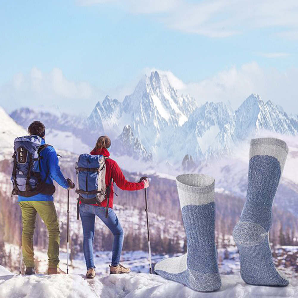 1 pair Ski Socks, WeiMeet Knee High Warm Skiing Snowboard Socks for Men and Women For Running, Athletic Sports, Crossfit, Flight Travel