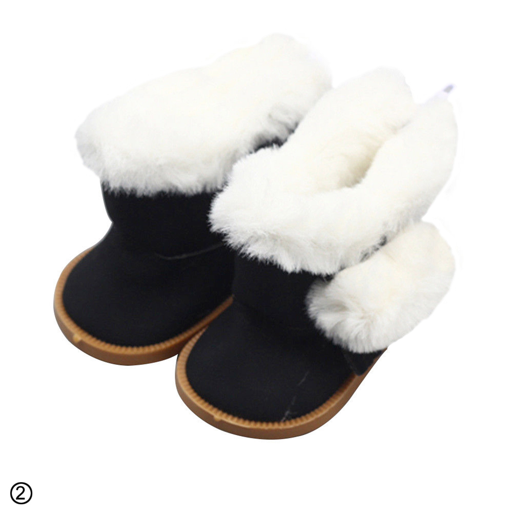 Cute Plush Winter Boots Shoes for 18inch Doll Shoes