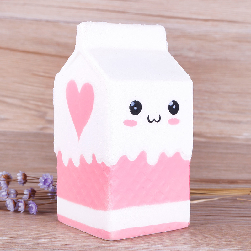 Love 12CM Milk Cup Bottle Squishy Soft Phone Straps Bread Cell Phone Charm Key Straps