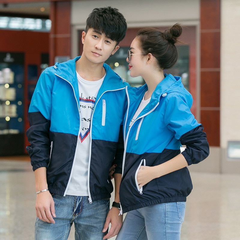 2018 Thin Hoodie Jacket Men Windbreaker Spring Autumn Mens Jackets Hooded Casual Man Jackets Male Coat Outwear for Couple