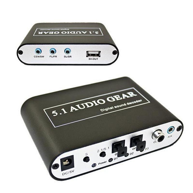 5.1 AC3 DTS Audio Gear Digital Sound Decoder SPDIF PS3 Stereo