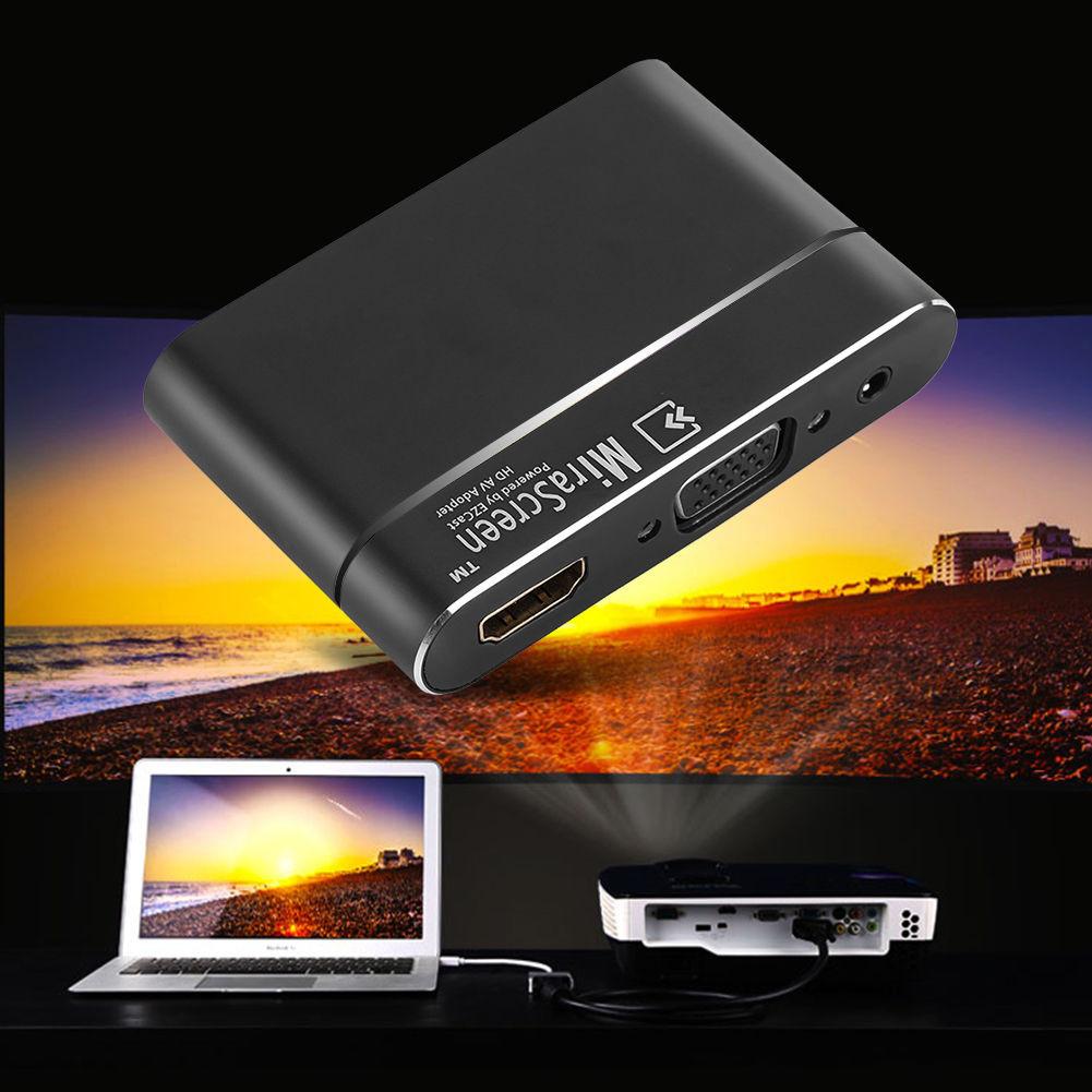 MiraScreen X6 HD 1080P Mirroring Video Converter Wireless ScreenShare VGA HDMI Dongle Miracast Airplay DLNA