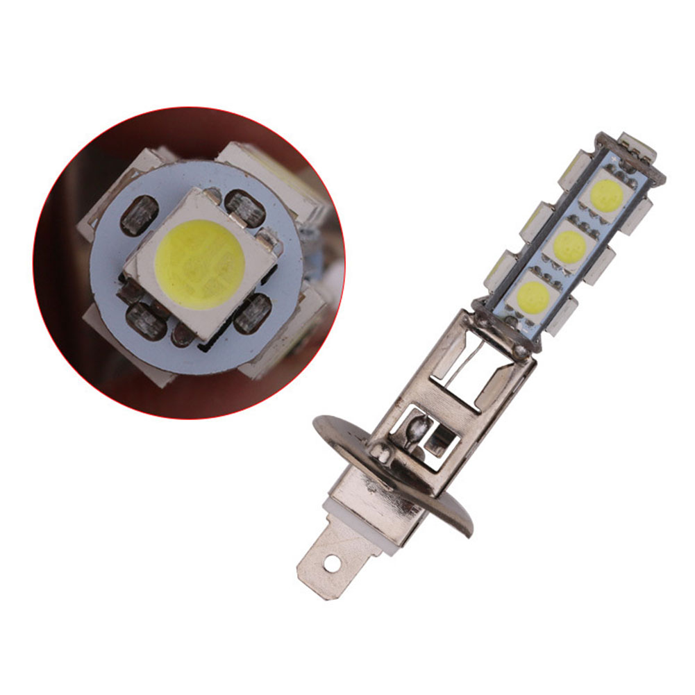 2Pcs Car H1 13 LED 5050 SMD White Headlight Fog Head Light Lamp Bulbs DC 12V