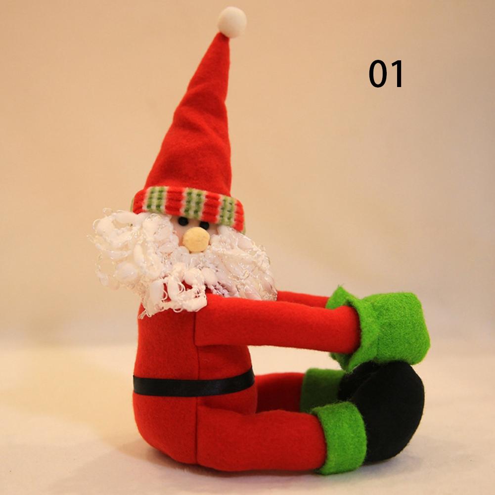 Christmas Bottle Decor Santa Claus Snowman Wine Bottle Cover Bag Festival Ornaments